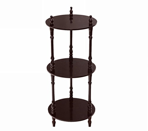 Frenchi 3 Tier shelves in Cherry Finish (3 Shelf Corner Stand)