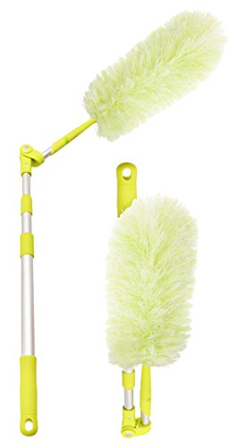 (Pure Care Microfiber Feather Duster with Extension Pole (21 to 64 inches), Lightweight, Washable, Hypoallergenic, Lint Free Dusters for Cleaning Ceiling Fan, Blinds, Cobwebs, Baseboards)