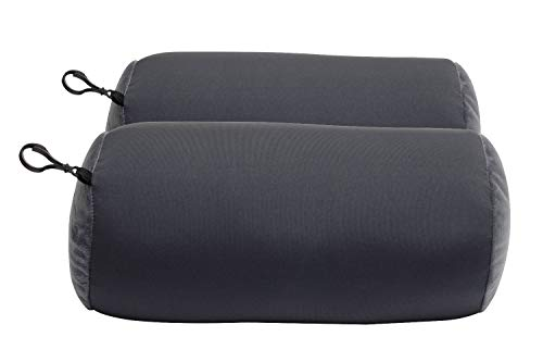 World's Best 2 pcs Microbead Bolster Tube Pillows, Smooth Cool Touch Fabric, Neck or Back Support Pillows, Hypoallergenic, Charcoal ()