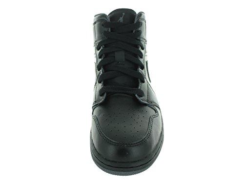 Air Jordan Boys Air 1 Mid Big Kids Style Zwart / Donkergrijs // Zwart