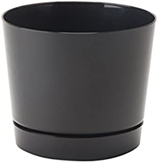 product image for Full Depth Round Cylinder Pot, Black, 6-Inch