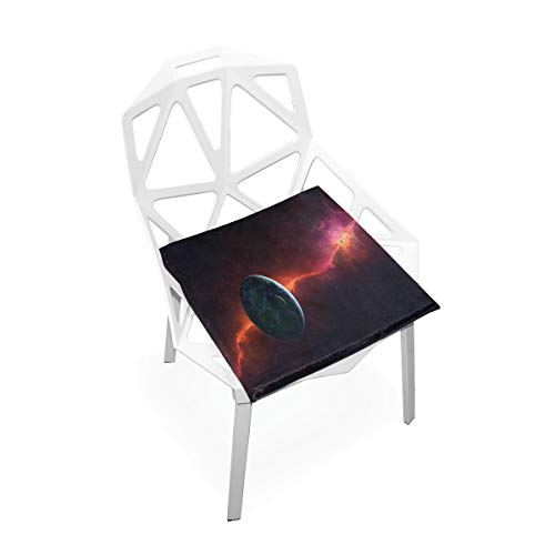 YETSH Seat Cushion Wallpaper Planets Cosmos Galaxy Seat Pads Square Cushion 16 x 16 Inch Memory Foam Chair Pads for Office/Car/Dining Chair