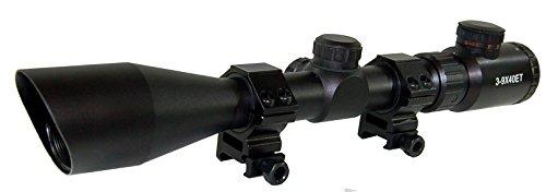 "Trinity Supply 3-9x40 Rifle Scope, Illuminated Rifle Scope, Red-green Illuminated P4 Sniper Reticle Rifle Scope, 223 Rifle Scope, 5.56 Rifle Scope, 308 Rifle Scope, Law Enforcement Rifle Scope, Military Rifle Scope, Tactical Optics, Tactical Rifle Scope, Black Matte Finish Rifle Scope,3-9x40 Scope 1"", R/g Ill, P4 Reticle, Quick Adjustment with Shade, Green and RED Illuminated."