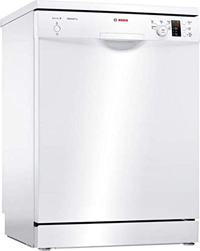 BOSCH SMS25EW00G Serie 2 Freestanding Dishwasher, 13 place settings, 60cm wide, White [Energy Class E]