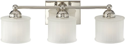 Minka Lavery 6733-1-613, 1730 Series, 3 Light Bath Fixture, Polished Nickel - Minka Lavery Vanity Lighting