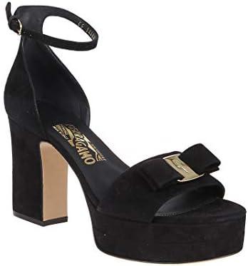 SALVATORE FERRAGAMO Luxury Fashion Femme 01Q086 Noir Suède Sandales | Automne-Hiver 19