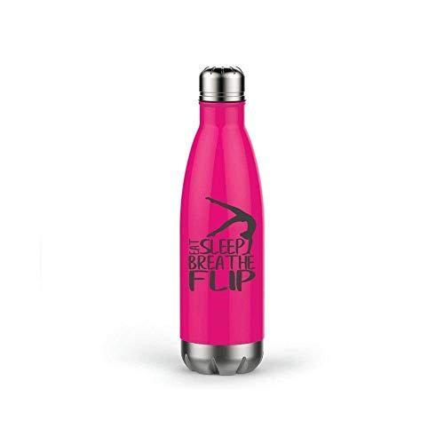 Gymnastics Water Bottle, Back to School, Eat Sleep Breathe Flip Stainless Steel Travel Mug Anchor Water Bottle -17oz