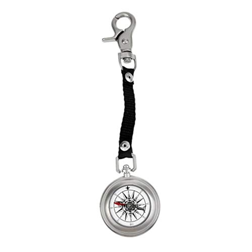 NATFUR Mini Compass Navigation Guide for Camping Walking Survival with Key Chain Pretty Key-Chain Cute for Men for Gift Elegant Pretty Beautiful Great Fine Beauteous ()