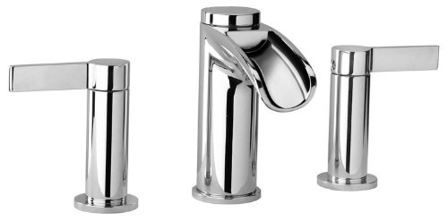 Jewel Faucets 10214WFS  Chrome Two Lever Handle Widespread Lavatory Faucet with Waterfall Spout from Jewel Faucets