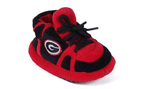 GEO03PR - Georgia Bulldogs NCAA Happy Feet Baby (Bulldogs Baby Slippers)