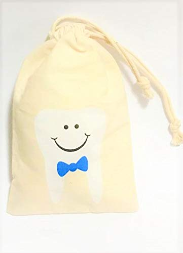 Tooth Fairy Bag Pouch for Boys - Keepsake Gift for Baby Kids & Children