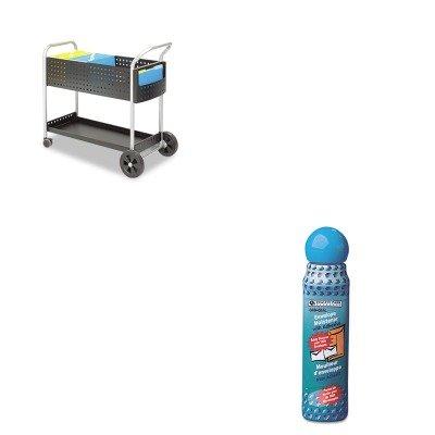 KITQUA46065SAF5239BL - Value Kit - Safco Scoot Mail Cart (SAF5239BL) and Quality Park Envelope Moistener w/Adhesive (QUA46065) by Safco