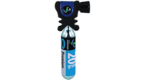 (Genuine Innovations Air Chuck Plus (Black/Blue) Co2 Inflator)