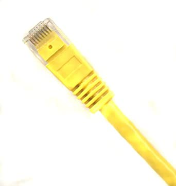 50 Pack 1ft Cat6 Cable Ethernet Lan Network RJ45 Patch Cord Internet Yellow