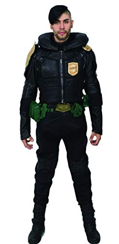 xcoser Judge Dredd Costume Deluxe PU Belt Jacket Pants Adult Halloween Cosplay Outfit L ()