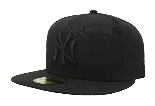 - New Era 59Fifty Hat MLB Basic New York Yankees Black/Black Fitted Baseball Cap (7)