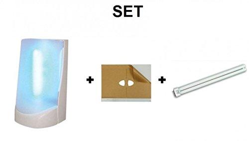 SET Insektenvernichter Flypod + 1x 6 Klebefolien + 1x UV-Röhre