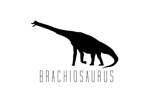 Brachiosaurus Poster - Dinosaur Brachiosaurus Black White Mural Giant Poster 36x54 inch
