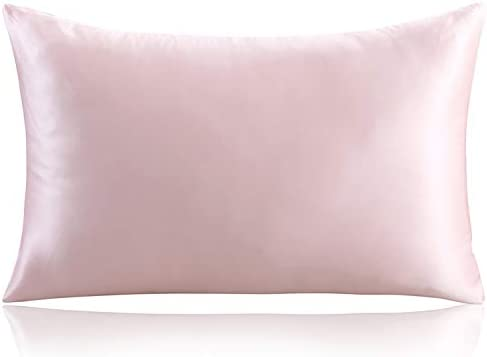 """ZIMASILK 100% Mulberry Silk Pillowcase for Hair and Skin ,Both Side 19 Momme Silk, 1pc (Queen 20""""x30"""", Pink)"""
