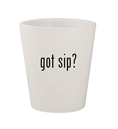 got sip? - Ceramic White 1.5oz Shot Glass