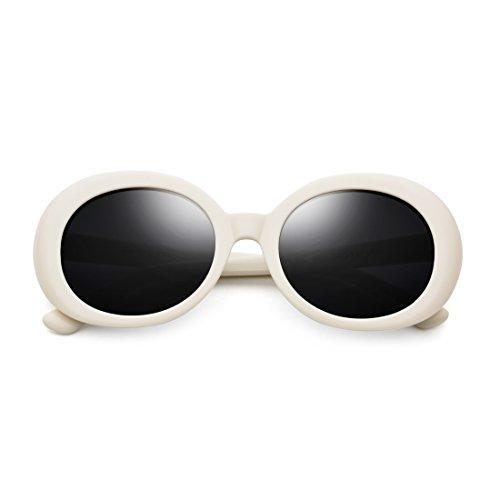 Retro ovaladas de Gruesas Hombre Sol Frame Sol Frame Red Lens y Sakuldes de Gafas Lens Mujer Black de Gafas Black Color Redondas White Marco w8FqvxnWzx