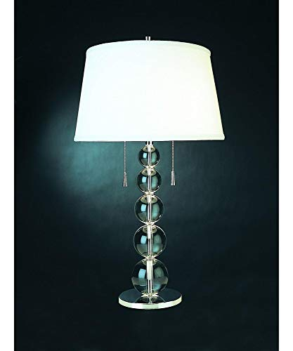 (Trend Lighting 2-Light Palla Table Lamp, Crystal/Chrome)