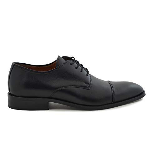 Negro En Color Cierre Y Piel Caballero Cordones Nobuck Negro Para Zapato wqY0ZEn