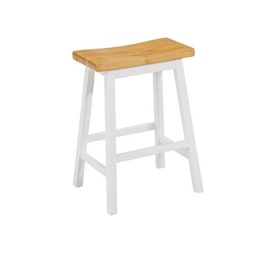Height Oak (Progressive International Counter Stool in Oak and White)