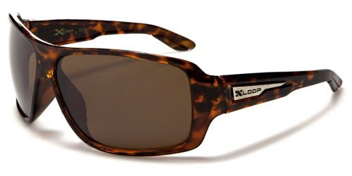 Sunglasses Replica Brown (X Loop Mens / Womens / Unisex Athletic Sport Designer Fashion Sunglasses with UV400 Lens - Available in Black / Brown / Red / Blue / Leopard - Includes Custom Branded Microfiber Pouch & Cleaning Cloth)