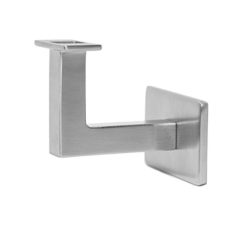 Stainless Steel Handrail Wall Bracket Square for Flat Bottom Tube Slim