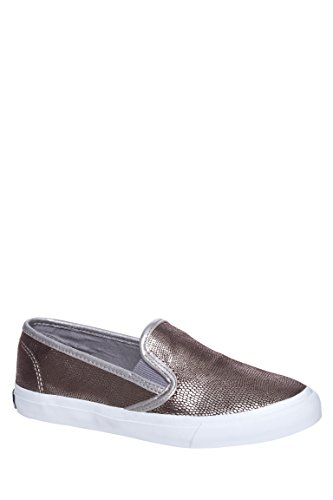 Sperry Womens Seaside Grey/Silver/Snake Casual Slip On Shoes K6qZH5E
