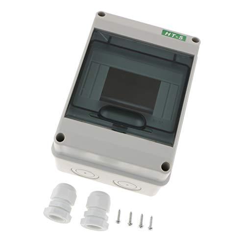 MagiDeal Caja De Distribución Plástico De 5/8 Vías Interruptor Interior Accesorios De Informática Negocios - Blanco 1