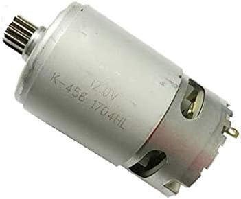 MQEIANG 15 Dientes de reemplazo DC Motor for 10.8V 12V for Bosch GSR 1080-2-Li TSR1080-2-LI GSR1200-2-LI GSR1080-2-LI inalámbrico Controlador Drill