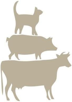 TODO-STENCIL Mini Deco Vintage Figura 046 Gato Cerdo Vaca. Medidas aproximadas: Medida Exterior 12 x 12 cm Medida del diseño:6,4 x 9 cm: Amazon.es: Hogar