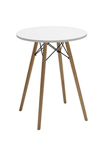 Esszimmertisch rund Tisch aus Holz Esstisch Duhome 174 WEISS Bistrotisch