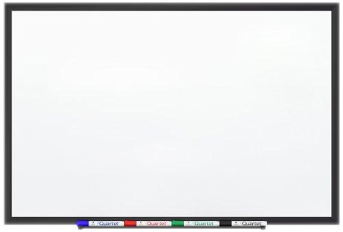 Quartet Premium DuraMax Porcelain Magnetic Whiteboard, 3 x 2 Feet, Black Aluminum (Duramax Total Erase Whiteboard Accessory)
