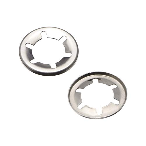 - uxcell M16 Internal Tooth Starlock Washer, Stainless Steel Push On Lock Washer Locking Washers Clips Fastener, 16mm Inner Dia 28mm Outer Dia 50pcs