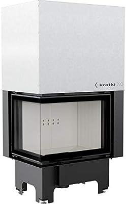 Kratki VN 700/480 - Chimenea con disco lateral de 12 kW (lado izquierdo, puerta corredera): Amazon.es: Bricolaje y herramientas