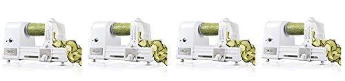 BELLA Hands-Free 4-in-1 Electric Spiralizer with Recipe Book, White (4-(Pack))