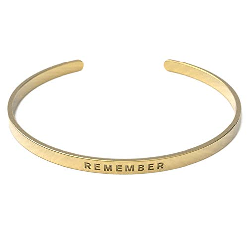 Remember Him Christian Bracelet   Scripture Remember   Crafted from Tarnish Resistant Gold Material   Adjustable for All Wrist Sizes   Suitable for Men and Women