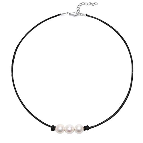 Boosic 3 Imitation Pearl Cord Necklace for Women, 13