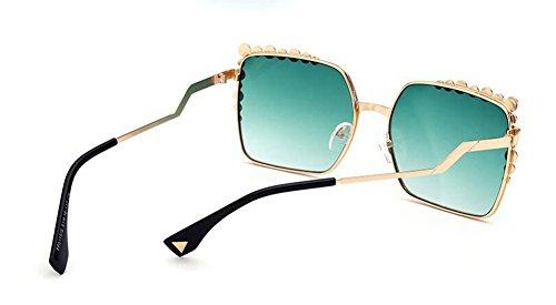 Gradient vintage de lunettes style retro du Lennon rond Vert cercle en soleil inspirées polarisées métallique T1HFxxOqw