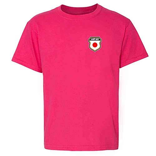 Japan Soccer Retro National Team Pink XS Youth Kids T-Shirt