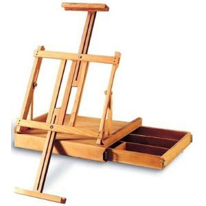 Box Table Easel (Ravenna Table Easel with Drawer)