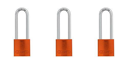 ABUS 72/40 Aluminum Safety Padlock Yellow Keyed Alike - Long Shackle (3
