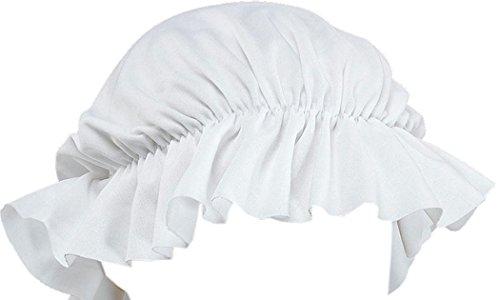 Adult Fancy Dress Party Headwear Bonnet Victorian Maid Lady Tudor Style Mob Cap ()