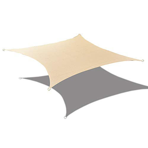 Alion Home Sun Shade Sail Custom Size with Stainless Steel Hardware Kit – Rectangle, Banha Beige 11 x 16