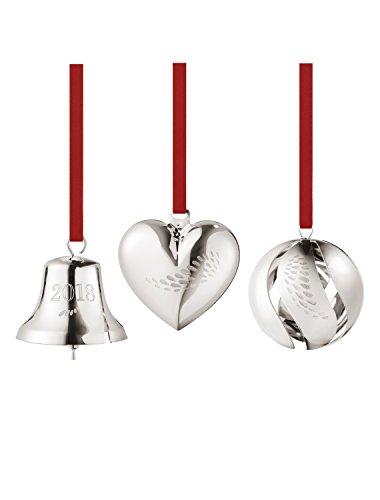(Georg Jensen 1 x Christmas Decoration, Palladium Plated Brass Silver, One Size)