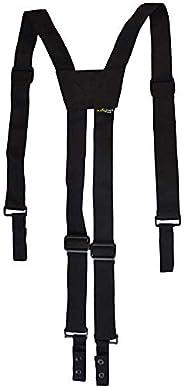 AISENIN Nylon Police Suspenders for Duty Belt Adjustable Tactical Duty Belt Harness for Duty Belt 4 Loop Attac