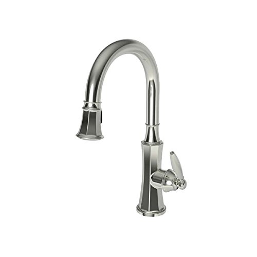 Newport Brass 1200-5103/15 Polished Nickel Pullout Spray High-Arch Kitchen Faucet from the Metropole - Metropol Collection
